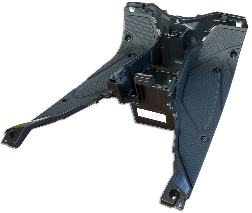 Carena podea sup.Yamaha Aerox, Nitro neagra-0