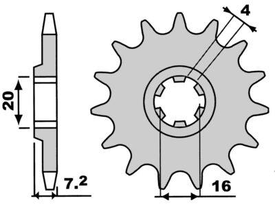 Pinion Z14-0