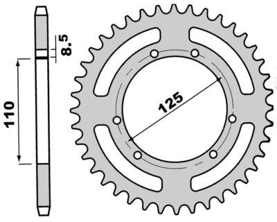 Pinion spate Z50-0