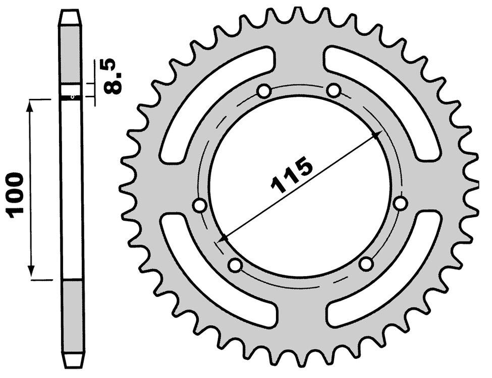 Pinion spate Z54-0