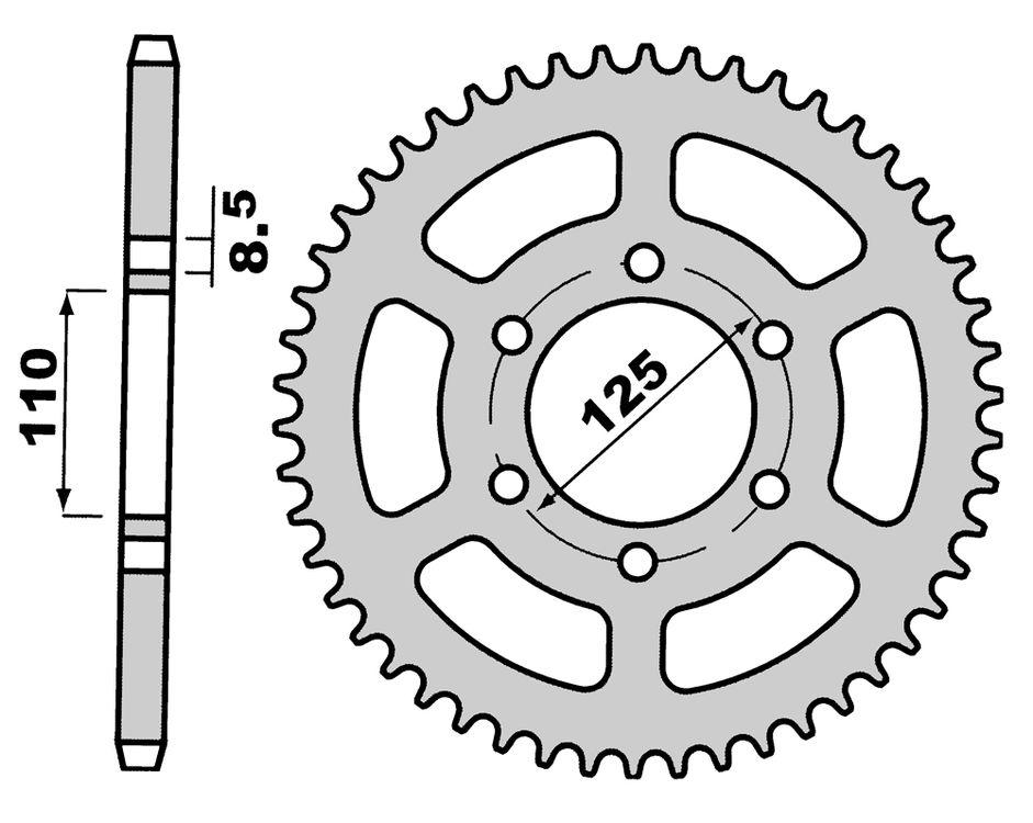Pinion spate Z56-0