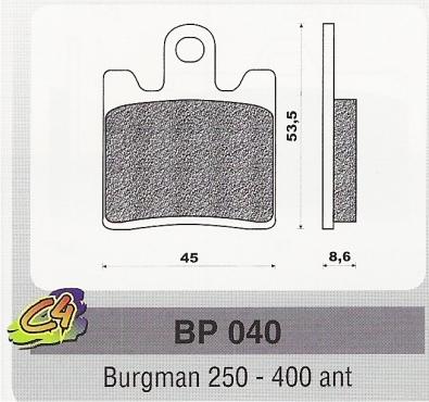 Placute frana Suzuki Burgman 250 - 400 ant-0