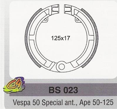 Ferodouri frana Piaggio Vespa 50 Spec. ant., Ape 50-125-0