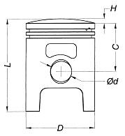 Piston Aprilia 50 DiTech Injectie Ø41 2T-0