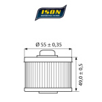 Filtru ulei moto ISON145-0