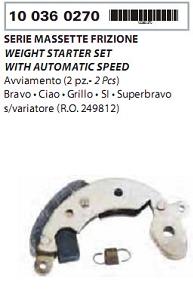 Ferodouri ambreaj Bravo/Ciao/Si  2buc.-3458