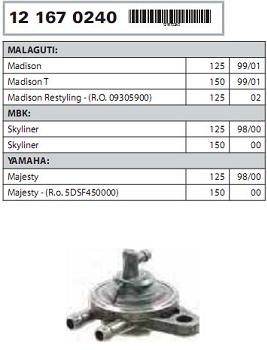 Pompa Vacum MBK/Yamaha/Malaguti 125-150-0