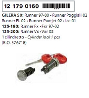 Butuci cu chei Gilera 50-125-180-200-0