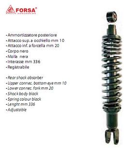 Amortizor spate Yamaha Majesty 125-150 '98-'06 336mm-0