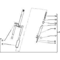 Arc telescop fata Piaggio Free 50cc -0