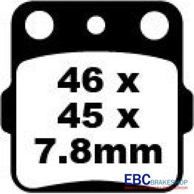 Placute Frana EBC Suzuki ATV 400/250-0