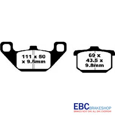 Placute frana Kawasaki GPZ/GTR/VN/ZL/ZN/EL/KR/ER-0