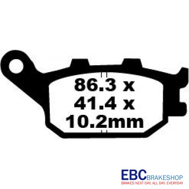 Placute Frana Moto EBC Suzuki GSF/GSX/SV/DL-0