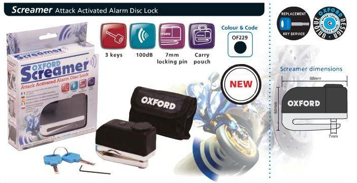 Antifurt blocaj disc OXFORD cu alarma-0