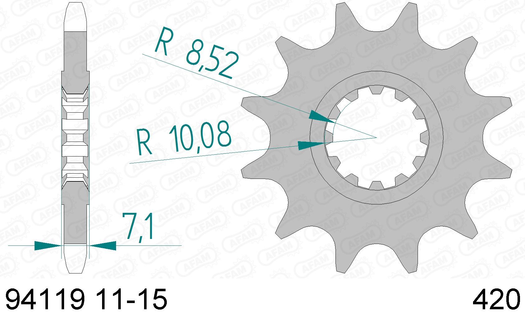 Kit lant Rieju 50 RR Spike SM 2005-0