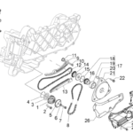 Garnitura carter joja ulei Piaggio 50cc 4T 969132-0
