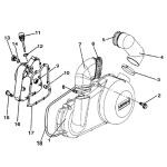 Garnitura capac magnetou ATV Linhai 260-300cc 23617-0
