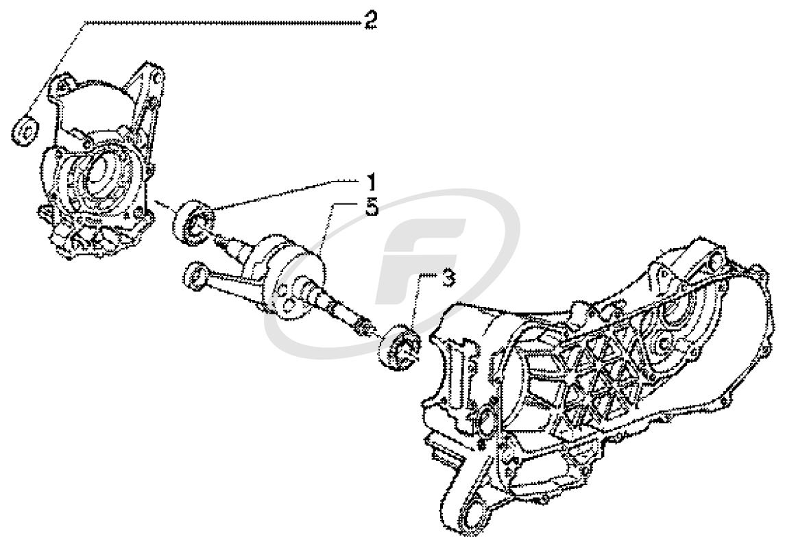 Set rulmenti + simering ambielaj Piaggio 4T 50cc -0