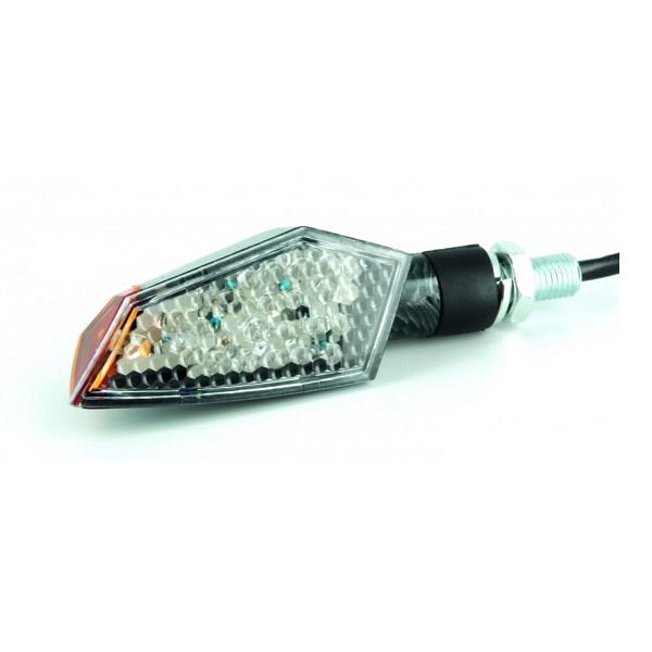 SET SEMNALIZATOARE LED (CE) – LATERAL, 100 X 35mm, ASPECT CARBON