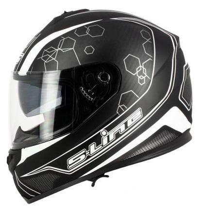 CASCA MOTO Sifam S-LINE FULL-FACE S440 – NEGRU/ALB – L (CU OCHELARI SOARE)