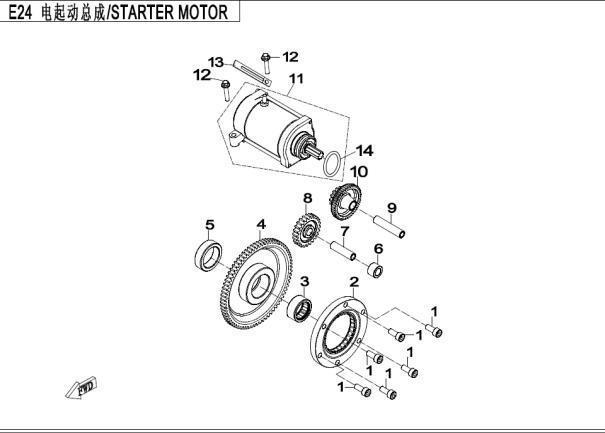 Electromotor ATV CF Moto 500